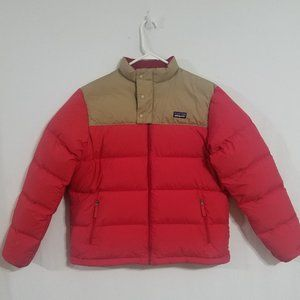 Patgonia Mens Small Bivy Puffer Jacket Coat Red S
